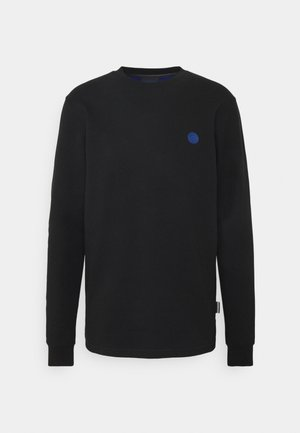 CREW NECK WITH TONAL CHEST ARTWORK - Collegepaita - black