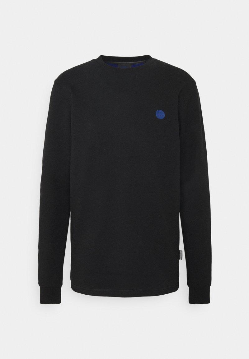 Scotch & Soda - CREW NECK WITH TONAL CHEST ARTWORK - Sweatshirt - black