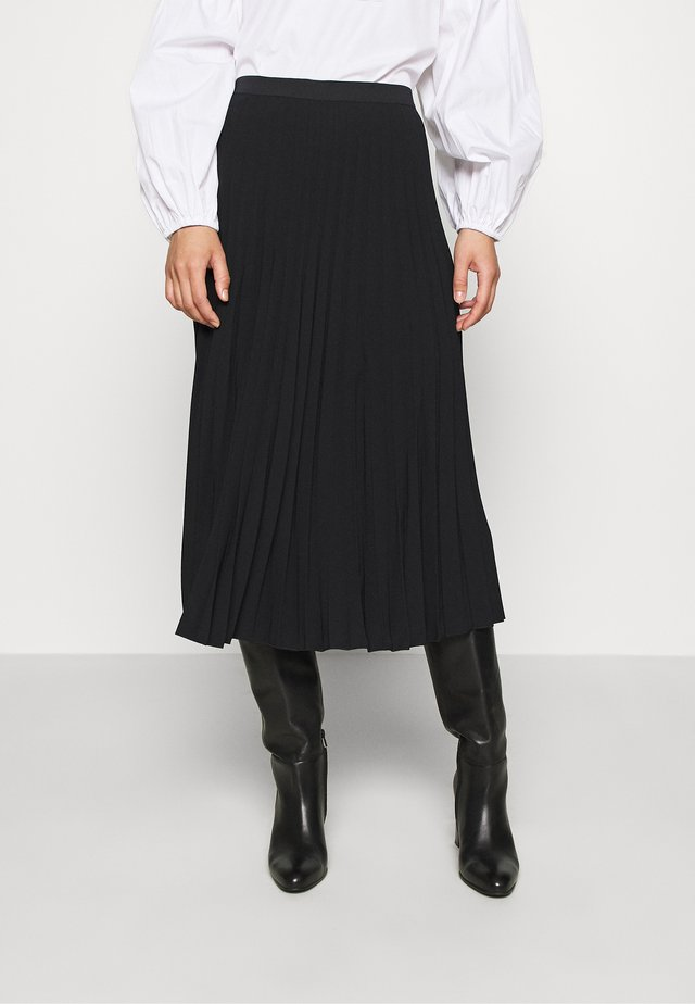 MAXI SKIRT - A-linjainen hame - black dark