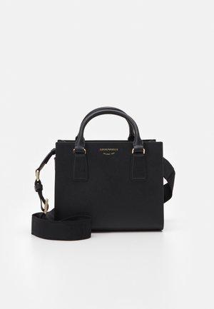 ILENIA S MINI GRAIN WOMENS TOTE BAG SET - Handbag - black
