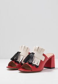 Mulberry - Heeled mules - rosso/nero/riso - 4