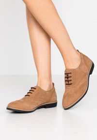 Anna Field - LEATHER FLAT SHOES - Derbies - brown - 0