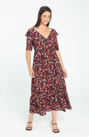 Gebreide jurk - rust