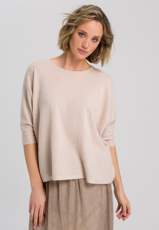 Jumper - light sand melange