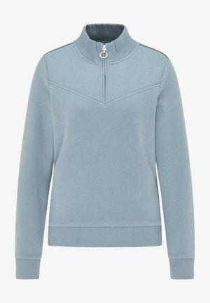 Sweater - grau blau