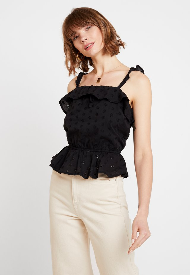 BRODERIE GYPSY CAMI - Blouse - black