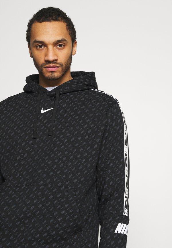 Nike Sportswear REPEAT HOOD - Bluza - black/white/czarny Odzież Męska BSJM
