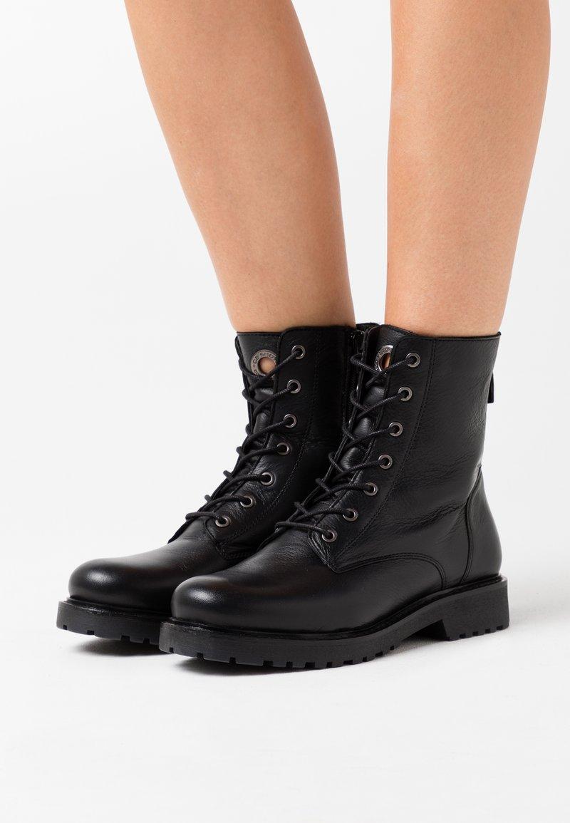 Ca'Shott - Lace-up ankle boots - black