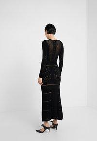 TWINSET - ABITO LUNGO IN SEAMLESS - Maxi dress - nero - 2