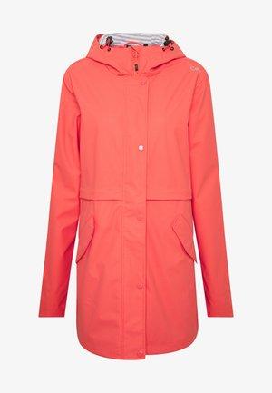 RAIN JACKET FIX HOOD - Waterproof jacket - peach