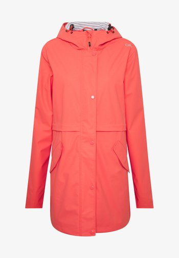 RAIN JACKET FIX HOOD - Outdoor jacket - peach