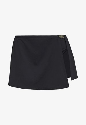 LOGO SOLIDS SKIRT BOTTOM - Bikini bottoms - black
