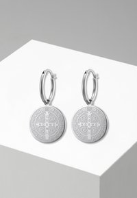 Heideman - CREOLE ARCHIVUS POLIERT - Earrings - silberfarben poliert - 0