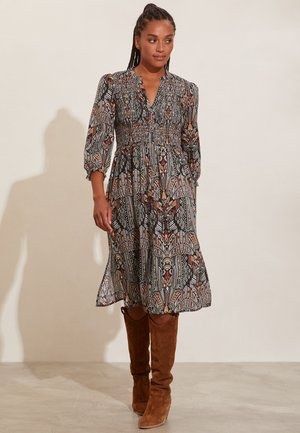 EVELYN - Shirt dress - deep asphalt