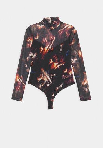 FLAMES ELIA BODYSUIT - Long sleeved top - black