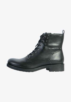 Lace-up ankle boots - noir