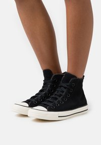 Converse - CHUCK TAYLOR ALL STAR  - High-top trainers - black/almost black/egret - 0