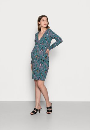 NURSING DRESS - Jersey dress - mallard blue