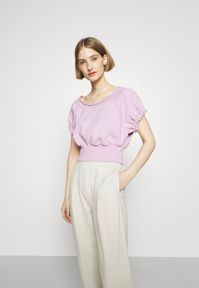 SHIRRED BALLERINA NECK FRENCH TERRY  - Sweatshirt - lavender