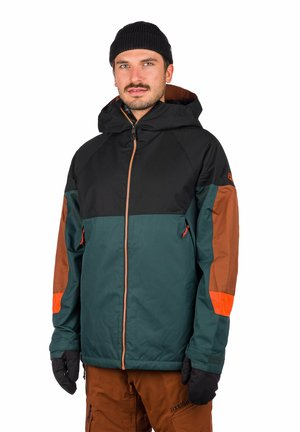 Winter jacket - dark spruce colorblock