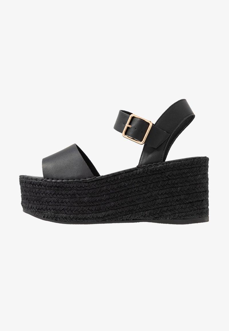 Topshop - DOVE WEDGE - Platform sandals - black