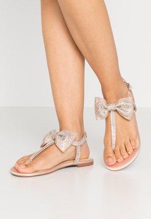 SASHA - T-bar sandals - champagne