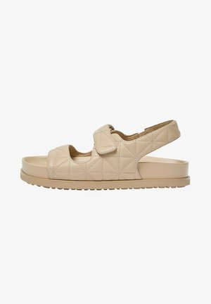 Sandalen met plateauzool - sand