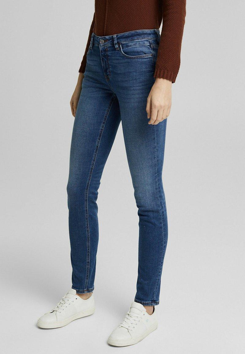 Esprit - FASHION  - Slim fit jeans - blue medium washed