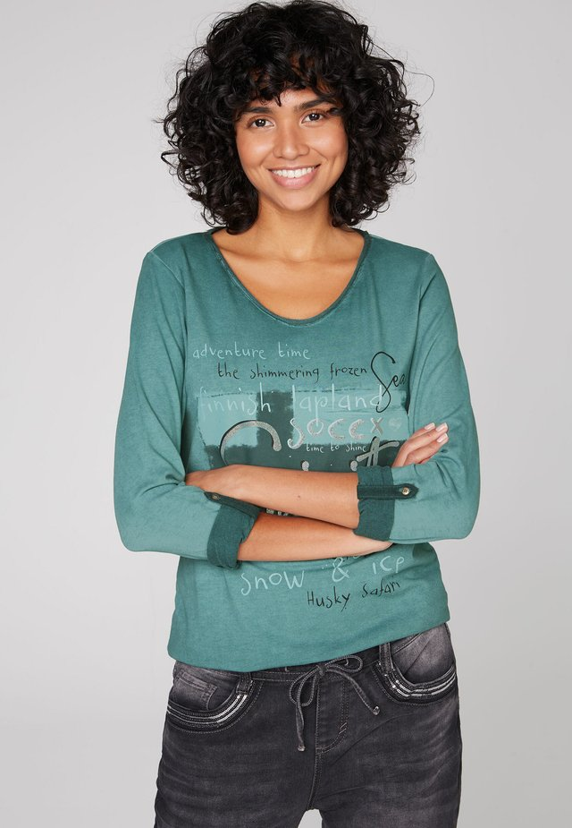 Long sleeved top - arctic green