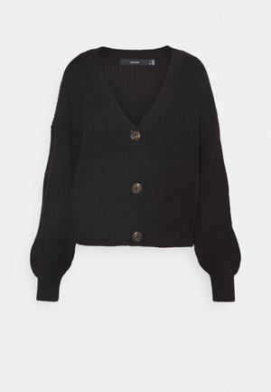 VMLEA V NECK CARDIGAN  - Strickjacke - black