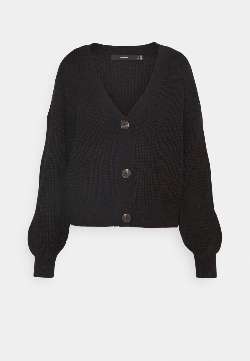 Vero Moda - VMLEA V NECK CARDIGAN  - Cardigan - black