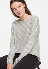 comma casual identity - Long sleeved top - grey diagonal stripes - 4
