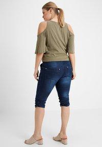 Zizzi - CAPRI - Denim shorts - dark blue denim - 2