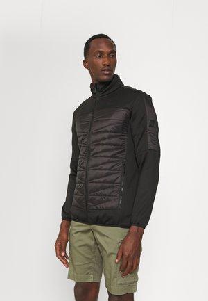 CLUMBER II HYBRID - Fleece jacket - black