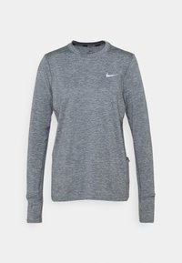 Nike Performance - W NK ELEMENT  - Langærmede T-shirts - smoke grey/lightt smoke grey/heathre/silver - 0