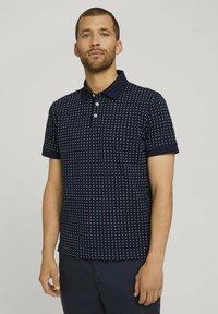 TOM TAILOR - Polo shirt - navy white minimal design - 0