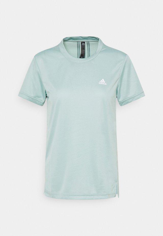 Print T-shirt - haze green/wild teal