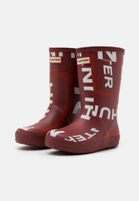 Hunter ORIGINAL - KIDS FIRST CLASSIC EXPLODED LOGO BOOTS UNISEX - Holínky - autumn stone - 1
