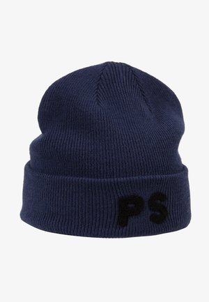 FLOCKED BEANIE - Bonnet - navy