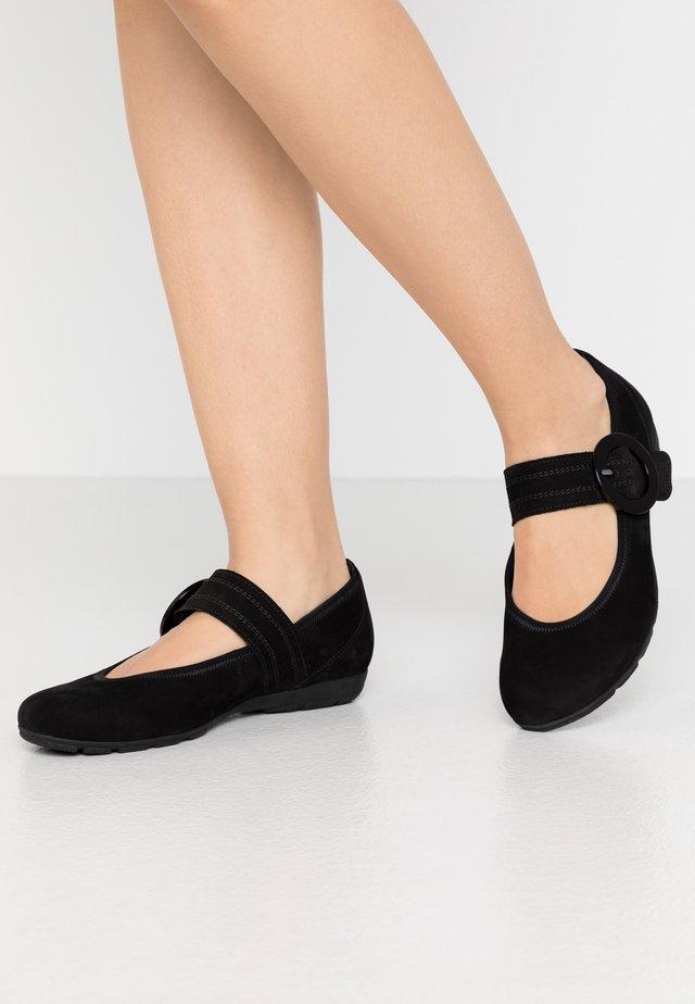 Bailarinas con hebilla - schwarz