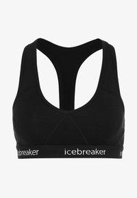 Icebreaker - SPRITE RACERBACK BRA - Stanik sportowy z średnim wsparciem - black - 4