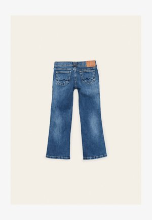 KICKI WORKER - Bootcut jeans - blue denim