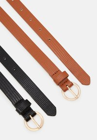 Even&Odd - 2 PACK - Belt - black/cognac - 1