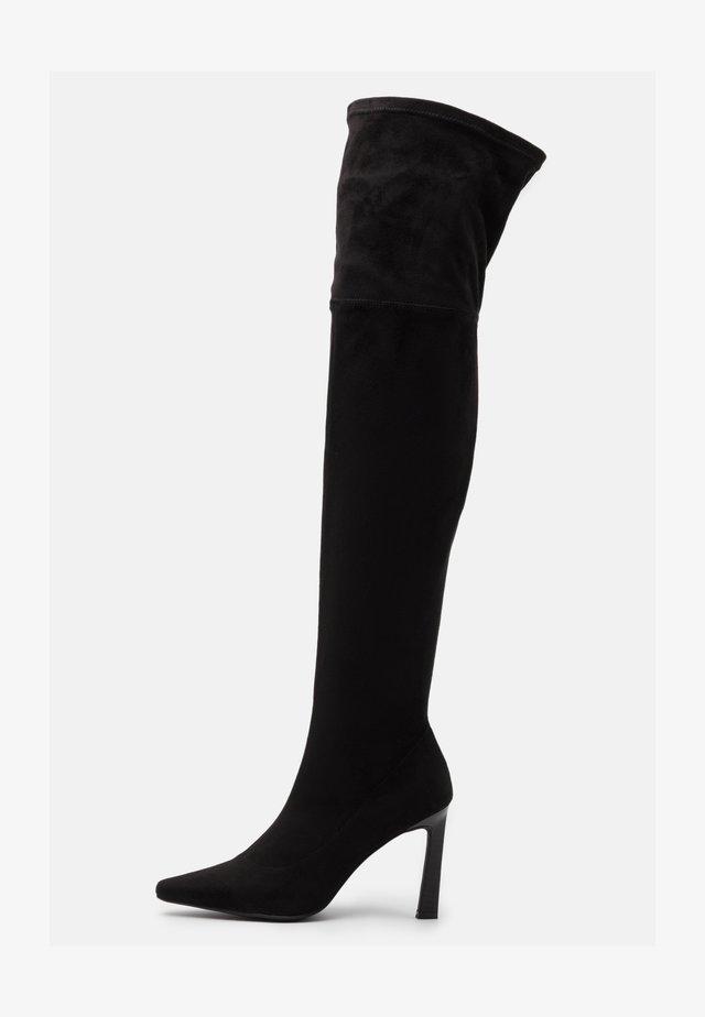SOFT LINE THIGH HIGH BOOTS - High heeled boots - black