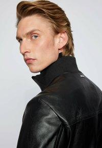 BOSS - NAFAN - Leather jacket - black - 4