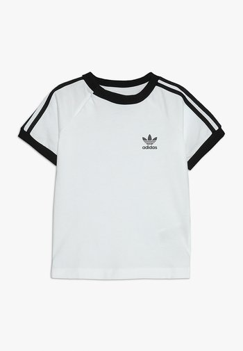 3 STRIPES TEE UNISEX - Print T-shirt - white/black