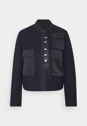3D POCKET WOOL BOMBER  - Bombejakke - dark blue