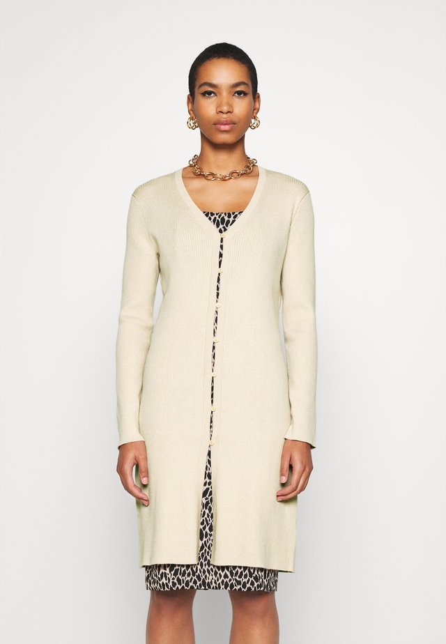 BUTTON FRONT DUSTER  - Kardigan - sand
