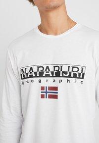 Napapijri - SGREEN LS  - Långärmad tröja - bright white - 5