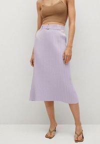 Mango - KATYA - A-line skirt - lys/pastell lilla - 0